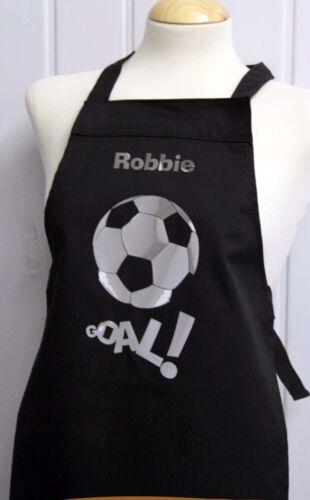 5-8 yrs football personalised birthday present printed apron christmas