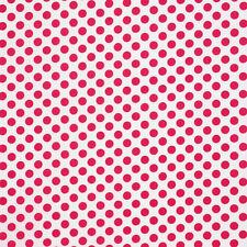 1YD Polka Dots Graphic TA DOT LIPSTICK Red White Circles Michael Miller Fabric