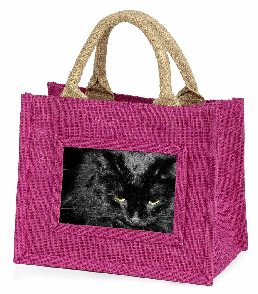Ambitieux Gorgeous Black Cat Little Girls Small Pink Shopping Bag Christmas Gif, Ac-300bmp CoûT ModéRé