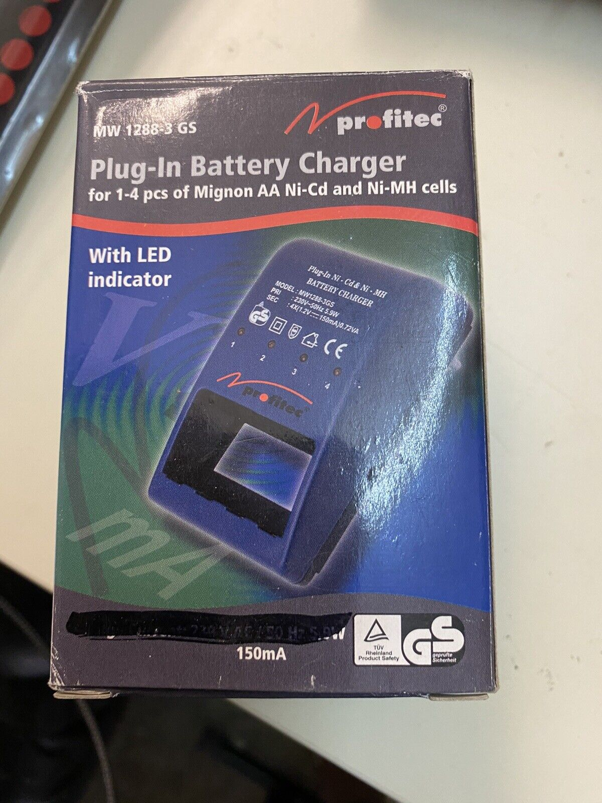 Profitec Plug - IN Battery Charger For 1-4 150ma Charger