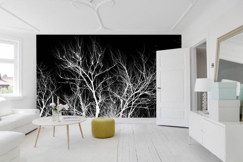 3D Nacht Der Weiße baum 35 Fototapeten Wandbild Fototapete BildTapete Familie DE