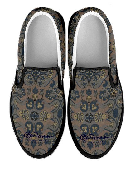 Not Quite Brown Paisley    SLIP ON SNEAKERS 399616