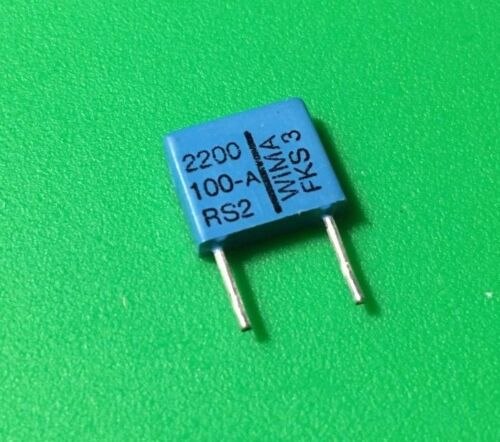 10 PCs Film Capacitor 100V 2200pF 2.2NF 2N2 CAP ORIGINAL OEM