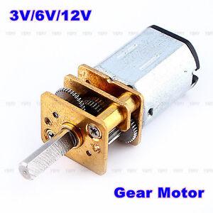 Dc3v 6v 12v n20 micro speed reduction gear dc motor with for Dc gear motor 6v