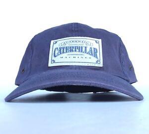 497809311 Authentic Caterpillar Machines Patch Logo Navy Blue Baseball Cap Hat ...