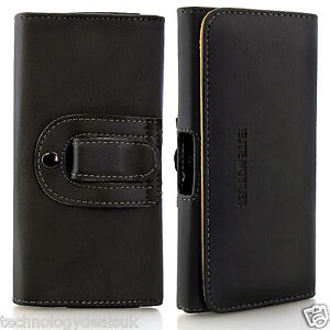Universal-PU-Leather-Belt-Loop-Holster-Case-Magnetic-Closure-Cover-Mobile-Phones