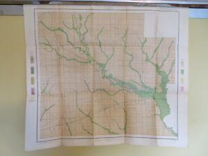 1902 Antique Map Illinois Clay County Xenia Flora Louisville 27 X 24