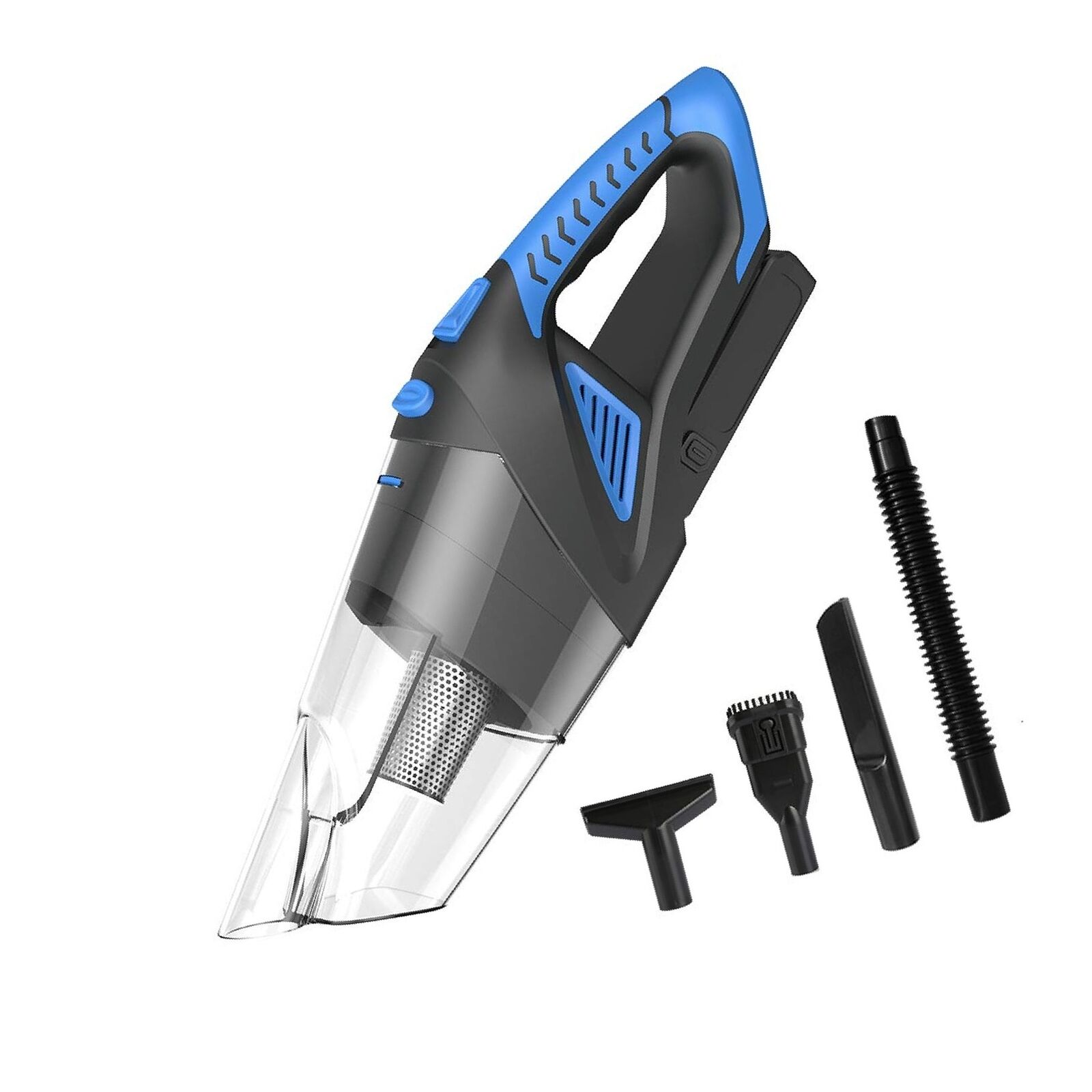 Cordless Vacuum, 12V 120W Portable Cordless Vacuum Cleaner, Wet & Dry Hand-he...