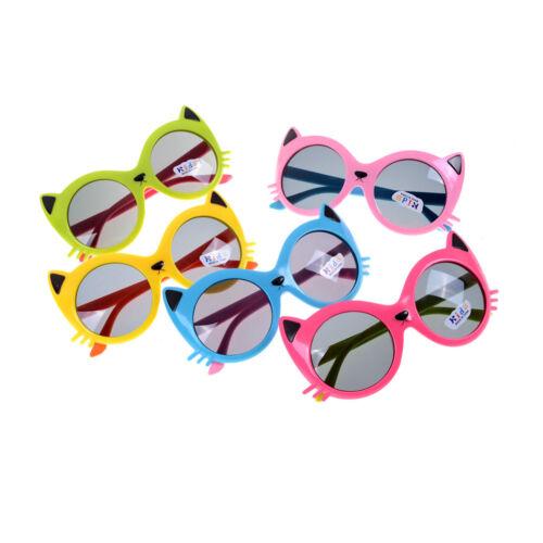 Girls Boy 5 Colors Cartoon Cat Anti UV400 Eyeglasses Toddler Baby Sunglasses Pip