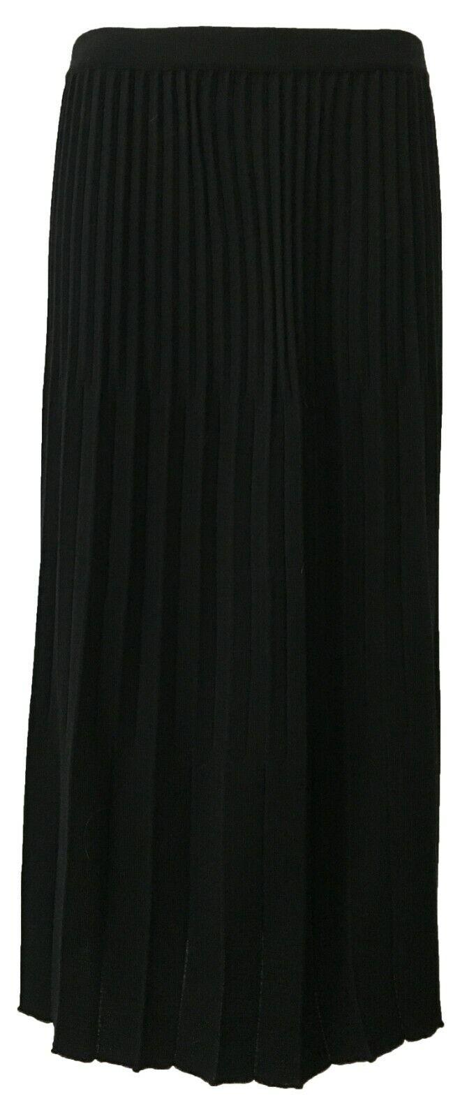 ELENA MIRÒ skirt woman jersey pleated with elastic waist coated 50% wool
