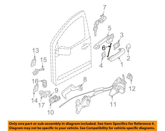 NISSAN OEM 04-15 Titan Front Door-Lock Rod Right 805147S200