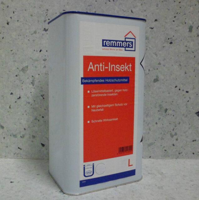 Remmers Anti-Insekt 5 L Braun Holzschutz Holzbalken Böden Insektenbefall