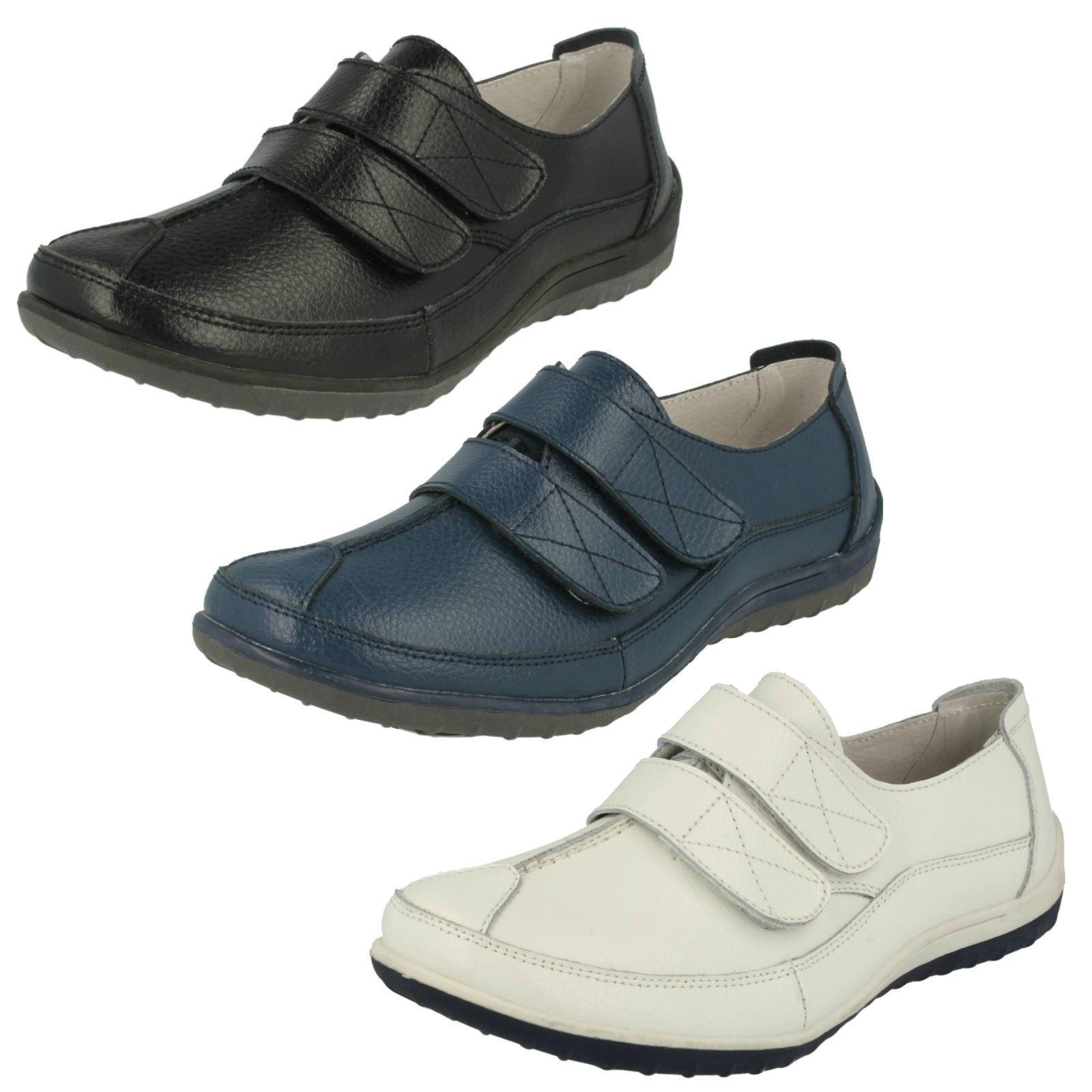 Mujer gancho F3097 gancho Mujer y lazo  Zapatos  De Cuero Por abajo Earth fa3a36