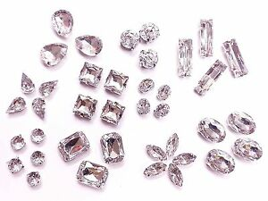 Acrylic-CLEAR-Sew-on-MONTEES-Crystals-Rhinestones-Diamantes-Dress-Making
