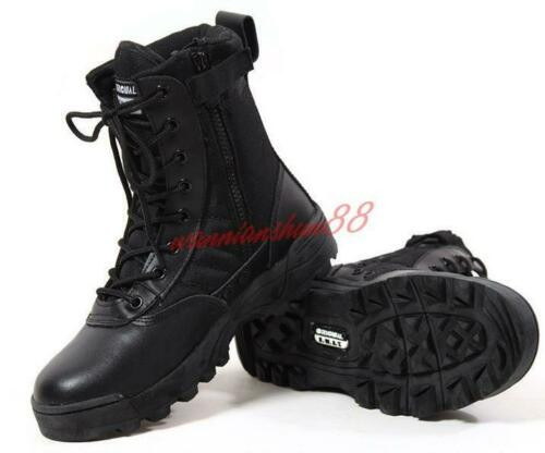 Mens High top Non slip Military Tactical Boots Lace Up Zip Desert Combat shoes #