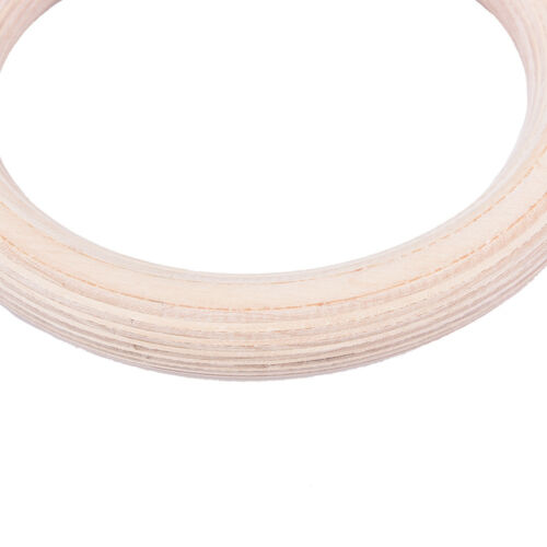 1 Pair Wooden Wood Crossfit Gymnastic Gym Rings Olympic Strength Training Z0 SP