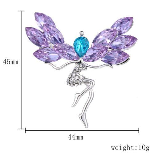 Fashion Dancing Girls Women Pearl Crystal Character Brooch Pin Piercing Hot Gift