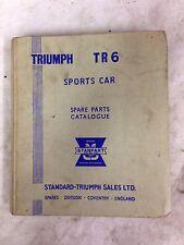 Triumph TR6 Spare Parts Book 1969 -70 (Fuel Injected Models) factory Man TR5