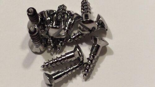 10 Chrom Schrauben Holzschrauben DIN 95 5,0x20 mm Messing verchromt Bootsbau