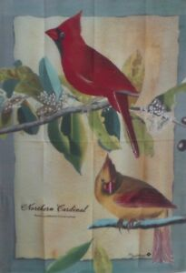 "Northern Cardinal Standard House Flag by Toland 28"" x 40"",  #9100"