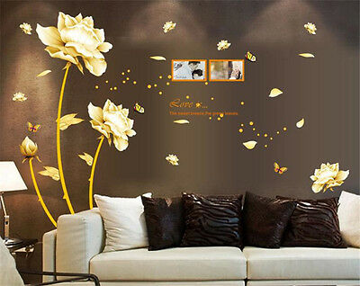 Noble Flower Home Decor Removable Wall Sticker Decal Decoration Vinyl Mural