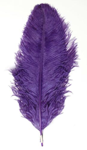 """3 PURPLE Ostrich FEATHERS 18-23/"""" Full Wing PLUMES; Bridal//Wedding//Centerpiece"""