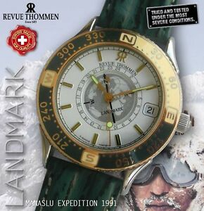 REVUE-THOMMEN-LANDMARK-MANASLU-EXPEDITION-SUN-COMPASS-24H-LEATHER-BAND-NOS