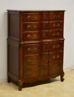 Cherry French Provincial Style Chest of Drawers Dresser by National Furniture