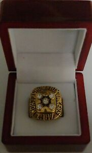 Magic-Johnson-1987-Los-Angeles-Lakers-NBA-Championship-Ring-WITH-Wooden-Box