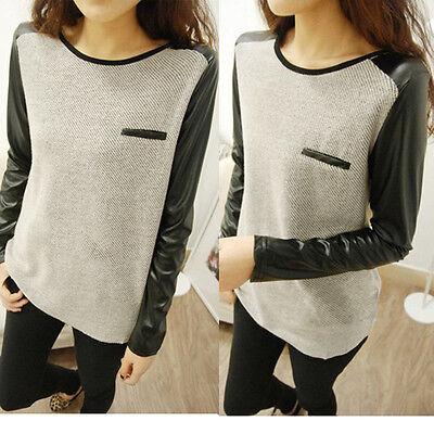 New  Tops Blouse  T-shirt Long Sleeve Winter Womens Ladies Loose Knitting Shirt