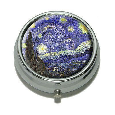 Starry Night by Van Gogh Pill Case Trinket Gift Box