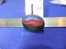 vtg badge pioneer holidays ayers rock souvenir advert tourism tourist 1950s