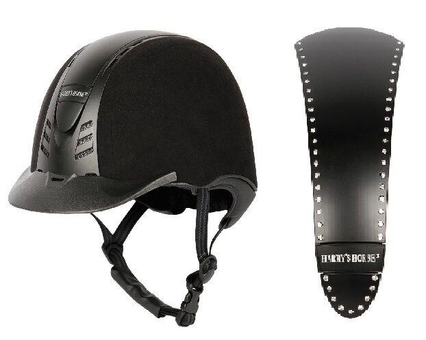 HARRY'S HORSE EQUITATION Reitkappe berufsabschluss détachables Panneau Avec Crystal noir