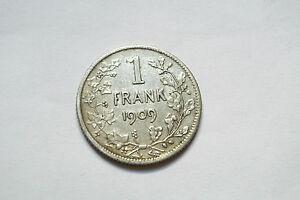 Belgique 1 Frank 1909 Pure Blancheur