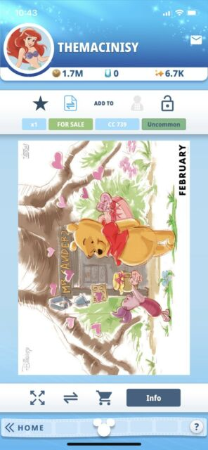 Topps Disney Collect Digital Winnie The Pooh February Vip Seasons Of The Hundred