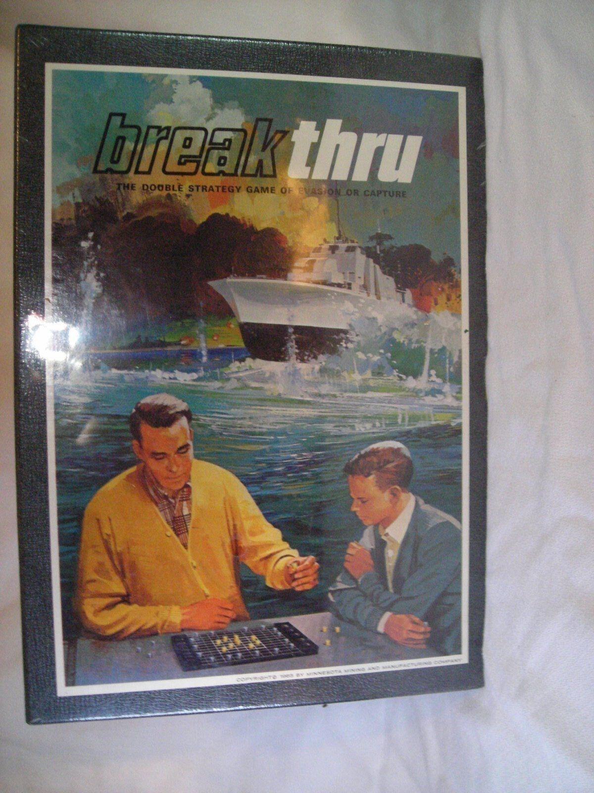 Breakthru board game 1965 vintage collectible NEW