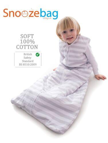 Snoozebag Baby Sleeping Bag 100/% Cotton Multi Tog Babies Sleepsack All Sizes