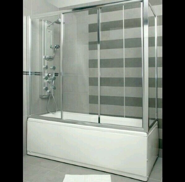 Box doccia per vasca RAINBOX in cristallo 80x140