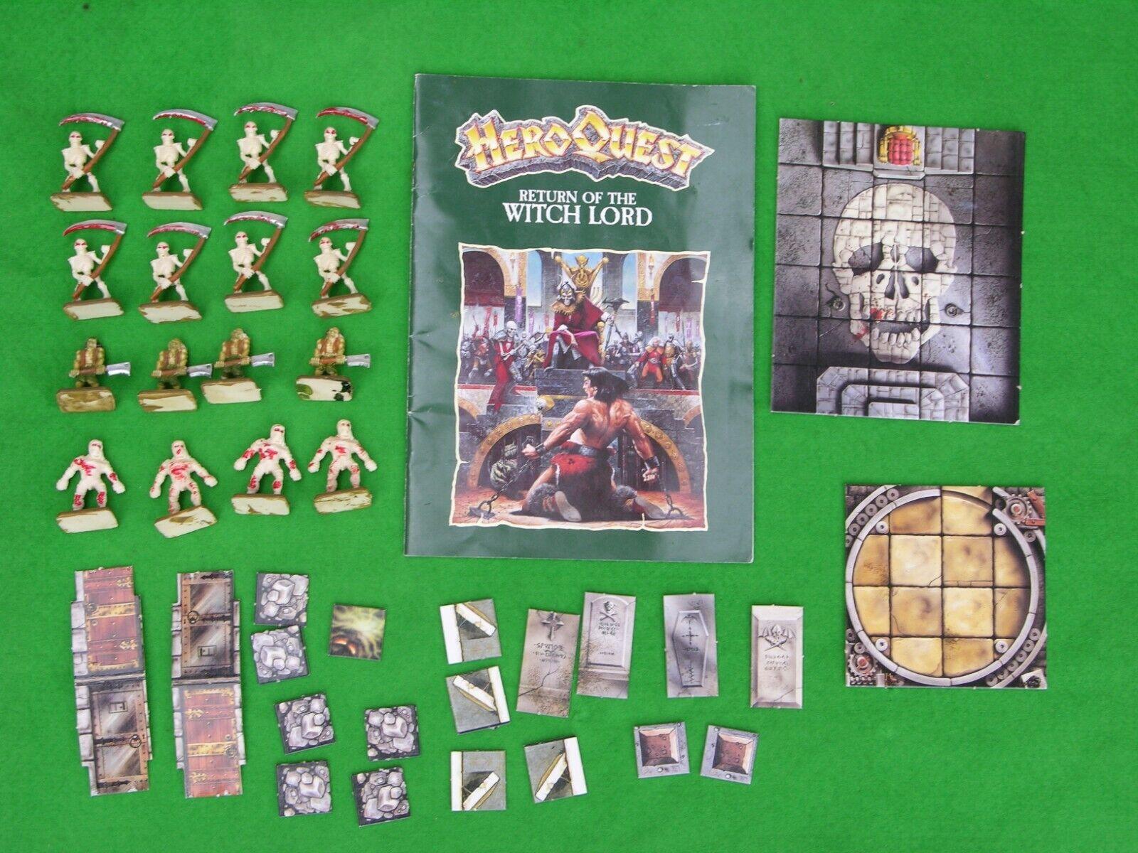 MB Heroquest Expansion Coffret, Return Of The Witch Seigneur, pas de Boîte,