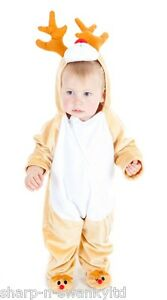 Girls rudolph reindeer christmas onesie fancy dress costume outfit