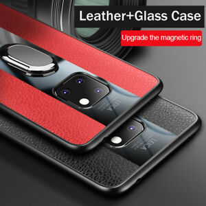 Details about Shockproof Leather Case For Huawei Nova 3i P20/Mate 20  Magnetic Ring Stand Cover