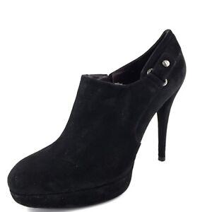 Stuart-Weitzman-445-Black-Suede-Womens-034-Uncover-034-Ankle-Boots-Size-9-M