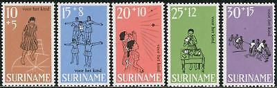 Sonstige Original Dep5/var1/s Suriname Nº 486/90 1968 Spiele Von Kindern Sport Luxus