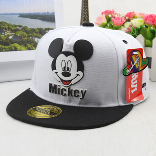 Mickey Minnie Mouse Baseball Cap Kids Boys Girls Snapback Sports Sun Hats Cpas