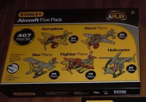 407p c Stanley Erector Set Aircraft Airplanes Toys age 8+ NIB