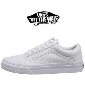 a679a665c156 Mens Vans Old Skool Fashion Sneaker Core Classic White Canvas Suede ...