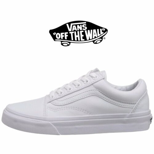 Mens Vans Old Skool Fashion Sneaker Core Classic White Canvas Suede All Size New by Vans
