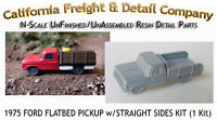 1975 Ford Flatbed Pickup W/straight Side N/nn3/1:160-california Freight & Detail