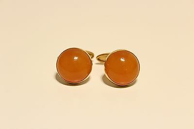 amber cufflinks production of the USSR in a gold-plated case gift for him