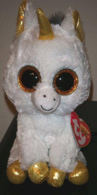 Ty Beanie Boo Plush - Pegasus The Unicorn Buddy 24cm White Gold for ... c07f8ca2b5c2